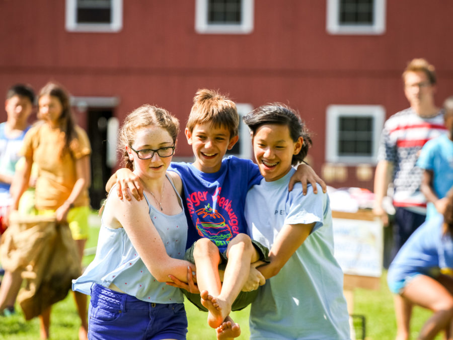 A group of campers having fun during an activity