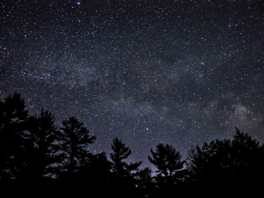A view of the stars at night.